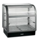 Lincat Seal 650 Series Counter-top Curved Front Heated Merchandiser - Back-Service - W 750 mm - 1.52 kW