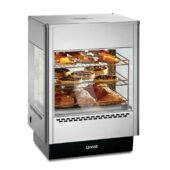 Lincat Seal Counter-top Upright Heated Merchandiser - Static Rack - Two Doors - W 562 mm - 1.4 kW