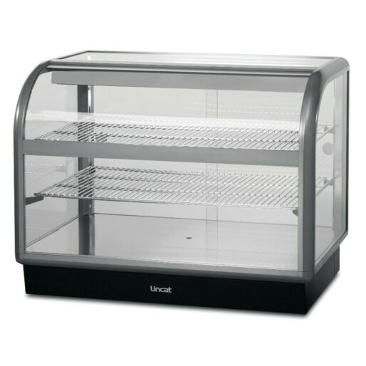 Lincat Seal 650 Series Counter-top Curved Front Ambient Merchandiser - Back-Service - W 1000 mm - 0.02 kW