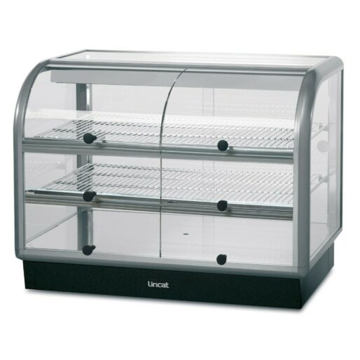 Lincat Seal 650 Series Counter-top Curved Front Ambient Merchandiser - Self-Service - W 1000 mm - 0.02 kW