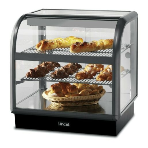 Lincat Seal 650 Series Counter-top Curved Front Ambient Merchandiser - Back-Service - W 750 mm - 0.02 kW