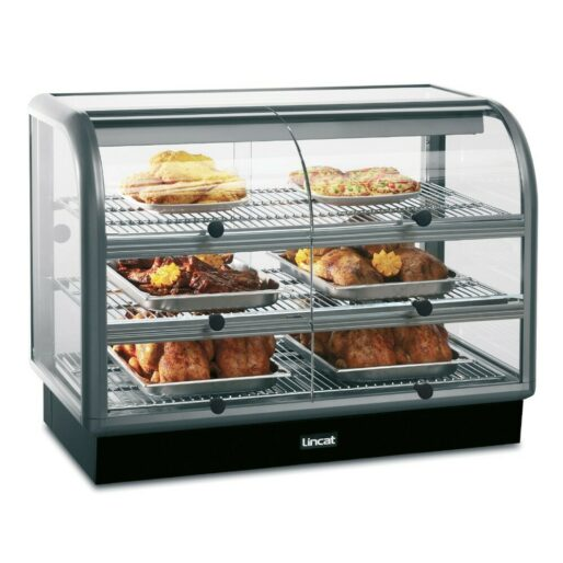 Lincat Seal 650 Series Counter-top Curved Front Heated Merchandiser - Self-Service - W 1000 mm - 2.02 kW