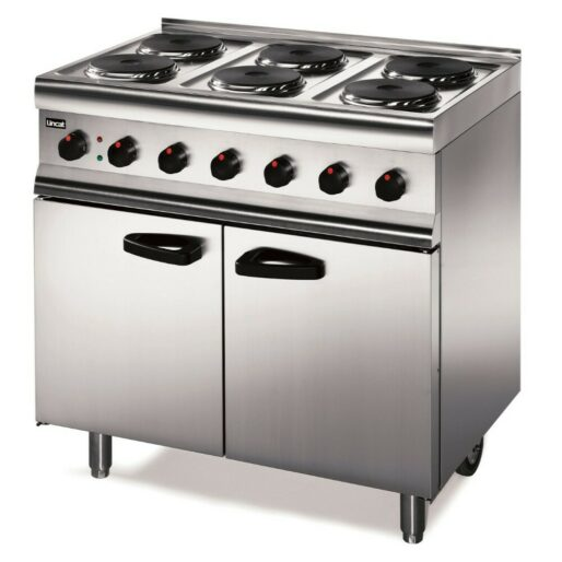 Lincat Silverlink 600 Electric Free-standing Oven Range - Castors at Rear - 6 Plates - W 900 mm - 13.0 kW [1-Phase]