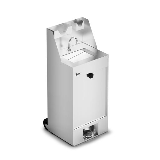IMC IMClean Mobile Hand Wash Station without Heater - inc. S/back, Soap & Paper Towel Holder - W 520 mm