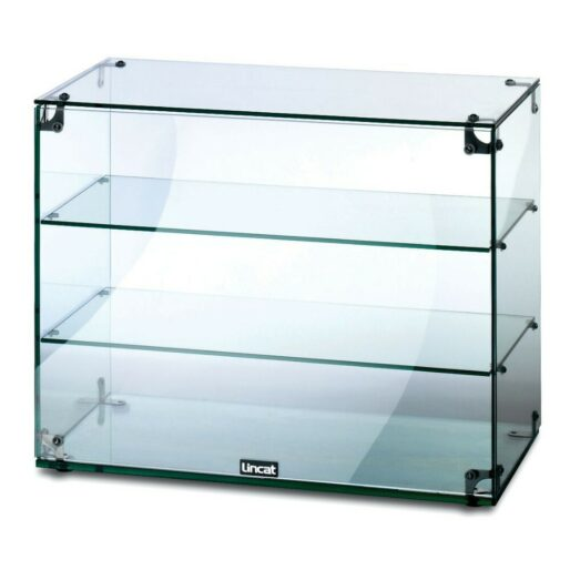 Lincat Seal Counter-top Glass Display Case - Open Back - W 607 mm