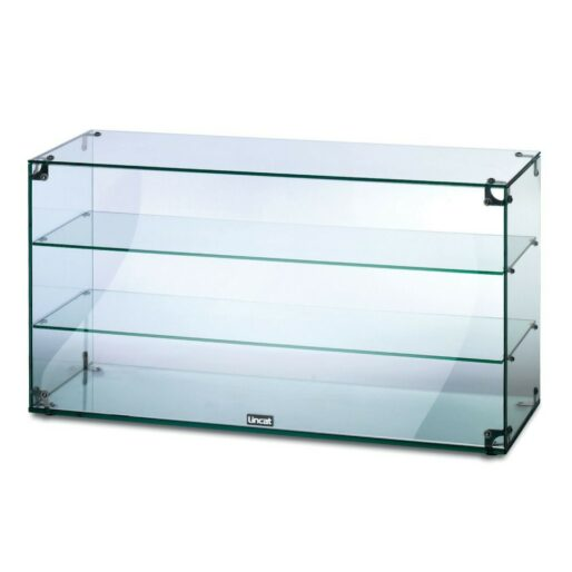 Lincat Seal Counter-top Glass Display Case - Open Back - W 907 mm