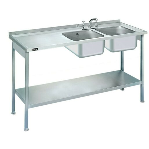 Lincat Built-in Sink Unit - Double Sink - Left-Hand Drainer - W 1500 mm