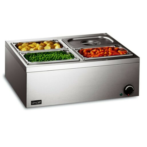 Lincat Lynx 400 Electric Counter-top Bain Marie - Dry Heat - inc. 4 x 1/4 GN Dishes - W 565 mm - 0.5 kW