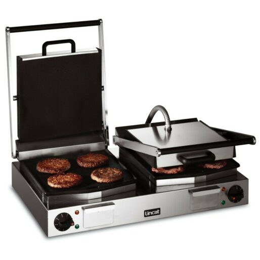 Lincat Lynx 400 Electric Counter-top Twin Contact Grill - Smooth Upper & Lower Plates - W 623 mm - 4.5 kW
